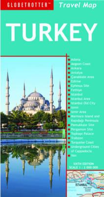 Turkey - Globetrotter Travel Map (Sheet map, folded)