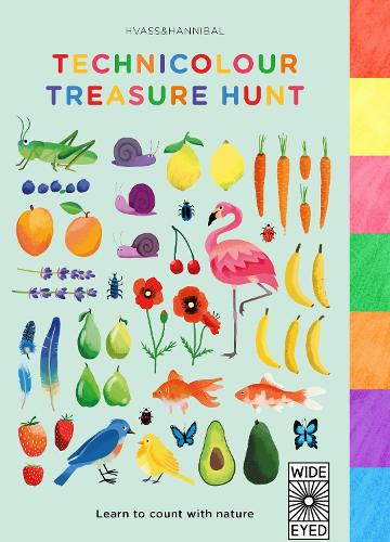 Technicolour Treasure Hunt: Learn to count with nature (Board book)