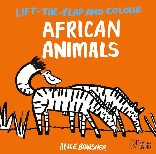 Lift-the-flap and Colour African Animals - Lift-the-flap and Colour (Paperback)