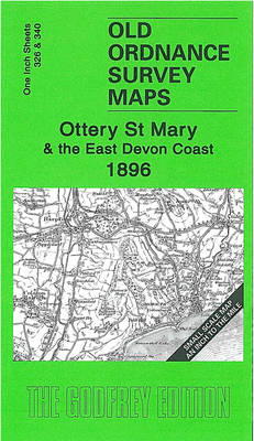 Ottery St Mary and the East Devon Coast 1896: Inch to the Mile Sheet 326 and 340 - Old Ordnance Survey Maps - Inch to the Mile (Sheet map, folded)