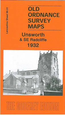 Unsworth and SE Radcliffe 1932: Lancashire Sheet 96.01 - Old Ordnance Survey Maps of Lancashire (Sheet map, folded)