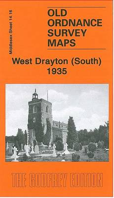 West Drayton South 1935: Middlesex Sheet 14.16 - Old Ordnance Survey Maps of Middlesex (Sheet map, folded)