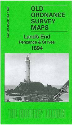 Land's End, Penzance & St Ives 1894: One Inch Sheet 351/358 - Old Ordnance Survey Maps - Inch to the Mile (Sheet map, folded)
