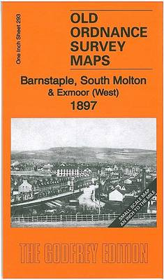 Barnstaple, South Molton & Exmoor (West) 1897: One Inch Sheet 293 - Old Ordnance Survey Maps - Inch to the Mile (Sheet map, folded)