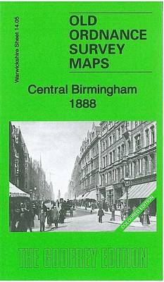 Central Birmingham 1888: Warwickshire Sheet 14.05a - Old Ordnance Survey Maps of Warwickshire (Sheet map, folded)