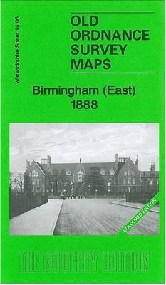 Birmingham (East) 1888: Warwickshire Sheet 14.06a - Old Ordnance Survey Maps of Warwickshire (Sheet map, folded)
