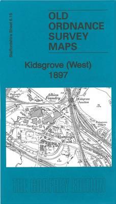 Kidsgrove (West) 1897: Staffordshire Sheet 06.15 - Old Ordnance Survey Maps of Staffordshire (Sheet map, folded)