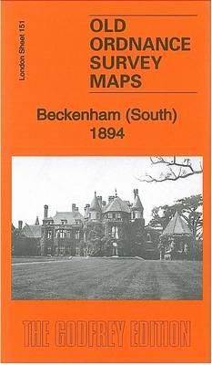 Beckenham (South) 1894: London Sheet 151.2 - Old Ordnance Survey Maps of London (Sheet map, folded)