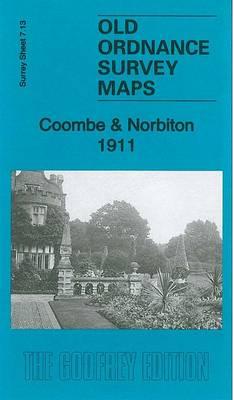 Coombe & Norbiton 1911: Surrey Sheet 7.13 - Old Ordnance Survey Maps of Surrey (Sheet map, folded)
