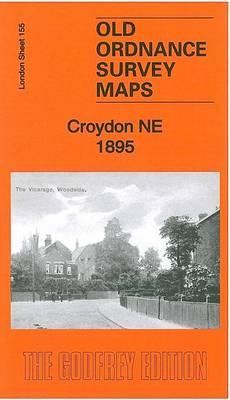 Croydon (NW) 1895: London Sheet 155.2 - Old Ordnance Survey Maps of London (Sheet map, folded)