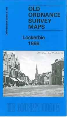 Lockerbie 1898: Dumfriesshire Sheet 51.01 - Old Ordnance Survey Maps of Dumfriesshire (Sheet map, folded)