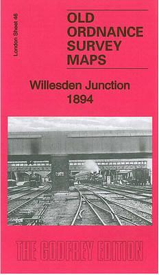 Willesden Junction 1894: London Sheet 46.2 - Old Ordnance Survey Maps of London (Sheet map, folded)