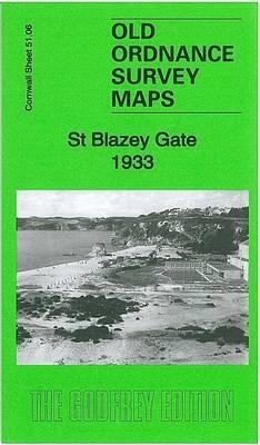 St Blazey Gate 1933: Cornwall Sheet 51.06 - Old Ordnance Survey Maps of Cornwall (Sheet map, folded)