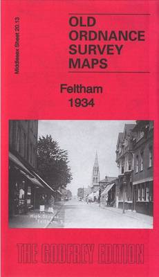Feltham 1934: Middlesex Sheet 20.13B - Old Ordnance Survey Maps of Middlesex (Sheet map, folded)