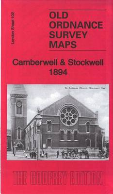 Camberwell & Stockwell 1894: London Sheet 102.2 - Old Ordnance Survey Maps of London (Sheet map, folded)