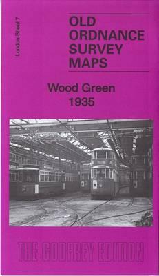 Wood Green 1935: London Sheet 007.4 - Old Ordnance Survey Maps of London (Sheet map, folded)