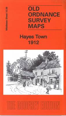 Hayes Town 1912: Middlesex Sheet 15.09 - Old Ordnance Survey Maps of Middlesex (Sheet map, folded)