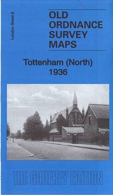 Tottenham (North) 1936: London Sheet 008.4 - Old Ordnance Survey Maps of London (Sheet map, folded)