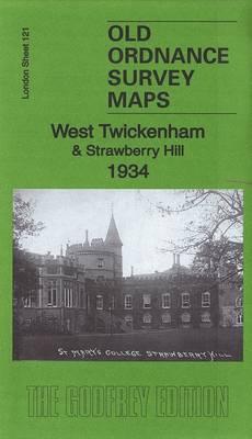 West Twickenham & Strawberry Hill 1934: London Sheet 121.4 - Old Ordnance Survey Maps of London (Sheet map, folded)