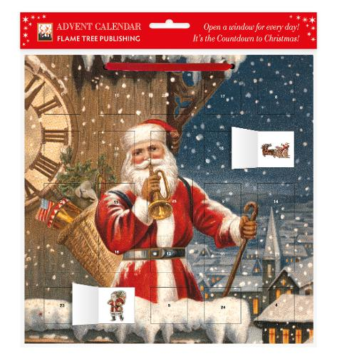 Snowy Santa Claus advent calendar (with stickers) (Calendar)