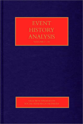 Event History Analysis - Sage Benchmarks in Social Research Methods (Hardback)