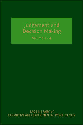 Judgement and Decision Making - SAGE Library of Cognitive and Experimental Psychology (Hardback)
