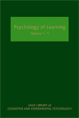 Psychology of Learning - SAGE Library of Cognitive and Experimental Psychology (Hardback)