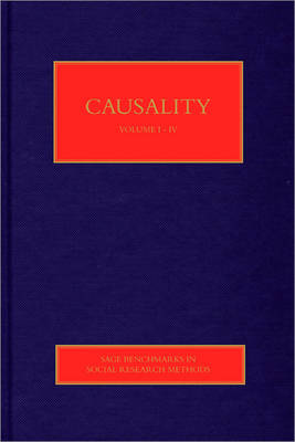 Causality - Sage Benchmarks in Social Research Methods (Hardback)