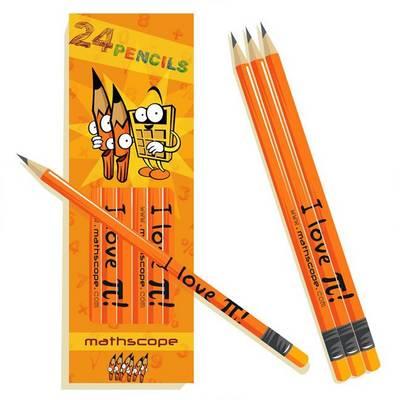 "Pack of 24 Maths Pencils (""I Love [pi]"")"
