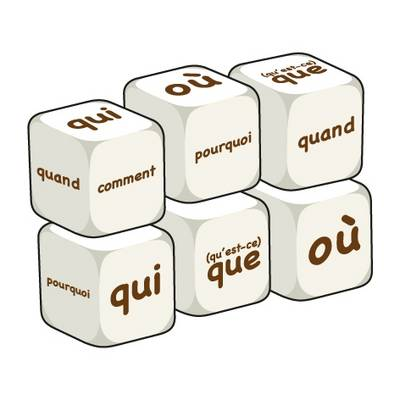 French Question Words (pack of 6 dice): Word Dice