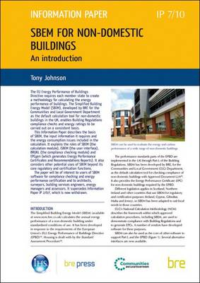 SBEM for Non-domestic Buildings: An Introduction