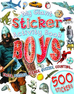 Giant Sticker Activity Boys (Paperback)