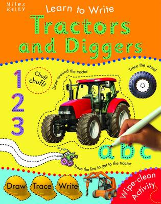 Learn to Write With Tractors and Diggers (Spiral bound)