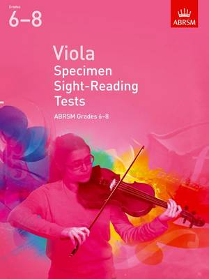 Viola Specimen Sight-Reading Tests, ABRSM Grades 6-8: from 2012 - ABRSM Sight-reading (Sheet music)