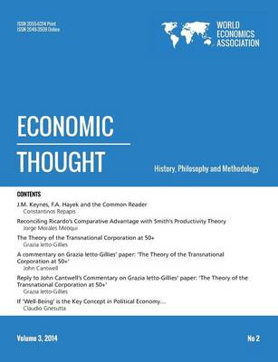 Economic Thought, Vol 3, No 2, 2014 (Paperback)