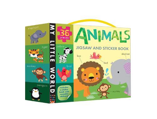 Animals Jigsaw and Sticker Book - My Little World