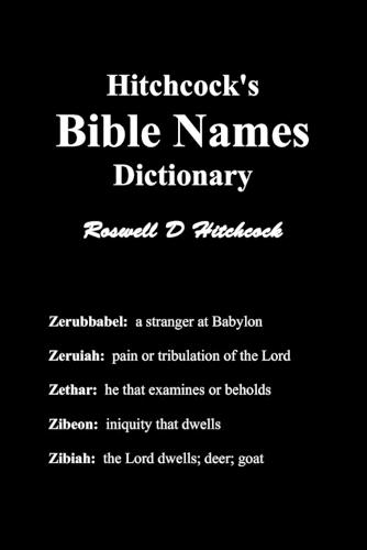 Hitchcock's Bible Names Dictionary (Paperback)