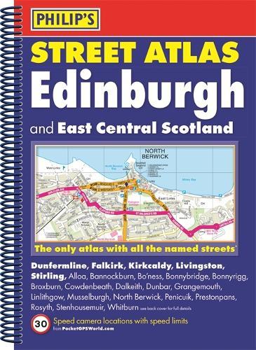 Philip's Street Atlas Edinburgh and East Central Scotland - Philip's Street Atlas (Spiral bound)