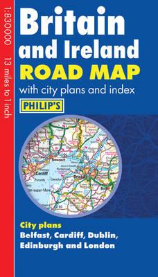 Philip's Britain and Ireland Road Map (Hardback)