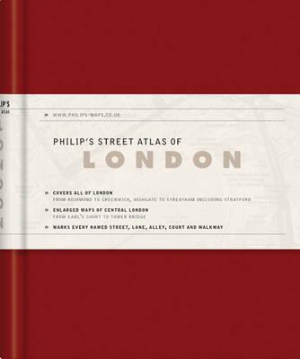 Philip's Street Atlas of London - Philip's Street Atlases (Hardback)