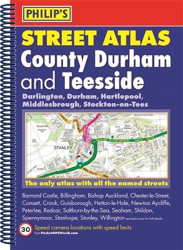 Philip's Street Atlas County Durham and Teesside - Philip's Street Atlas (Spiral bound)