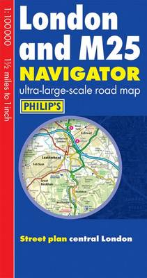 Philip's London and M25 Navigator Road Map (Paperback)