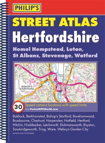 Philip's Street Atlas Hertfordshire - Philip's Street Atlas (Spiral bound)