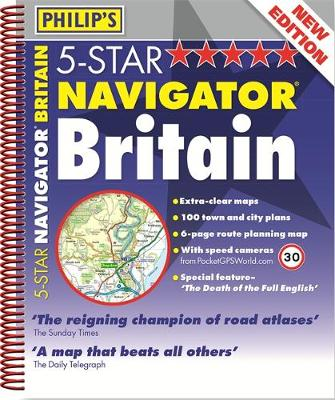 Philip's 5-Star Navigator Britain (Spiral bound)