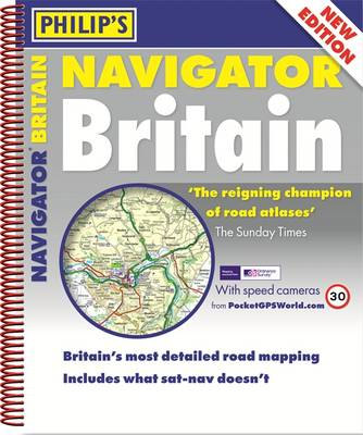 Philip's Navigator Britain Spiral - Philips Road Atlas (Spiral bound)