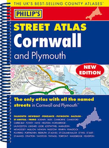 Philip's Street Atlas Cornwall and Plymouth (Spiral bound)