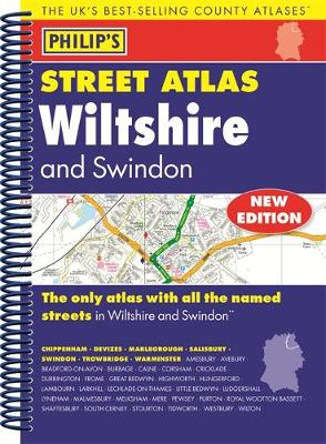 Philip's Street Atlas Wiltshire and Swindon - Philip's Street Atlas (Spiral bound)