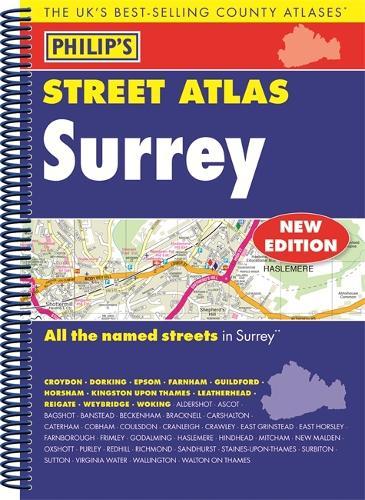 Philip's Street Atlas Surrey - Philip's Street Atlas (Spiral bound)