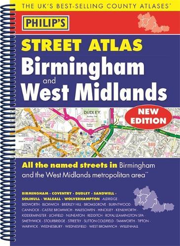 Philip's Street Atlas Birmingham and West Midlands (Spiral bound)