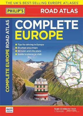 Philip's Complete Road Atlas Europe 2016 (Paperback)